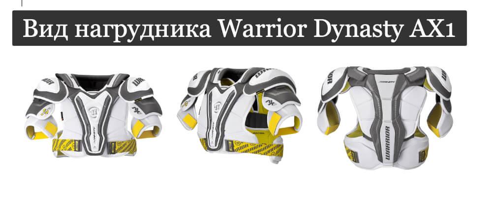 Вид нагрудника Warrior Dynasty AX1